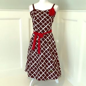 Fun Ruby Rox Party Dress Blk/Wht/Red Size 5
